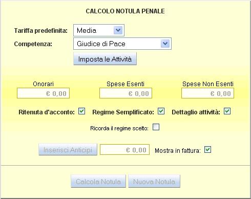 Calcolo notula